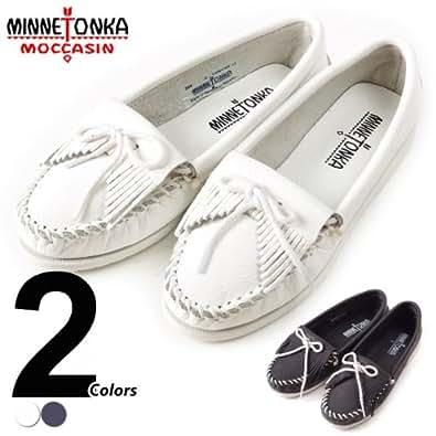 [ミネトンカ]Minnetonka モカシン キルティー アンビーデッド レディース 5(21.5-22.0cm) 204 White