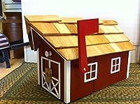 Amish Craftedバーンスタイルメールボックス(レッドW /ホワイトトリム)ランカスター郡、PA