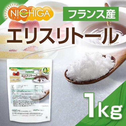 フランス産 エリスリトール 1kg  遺伝子組み換え材料不使用 カロリーゼロ [01]希少糖 糖質制限 天然甘味料 砂糖代替甘味料 NICHIGA(ニチガ)