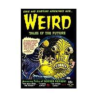 Comic Weird Tales Future Alien Sci Fi Fiction Wall Art Print 漫画奇妙な未来エイリアンフィクション壁