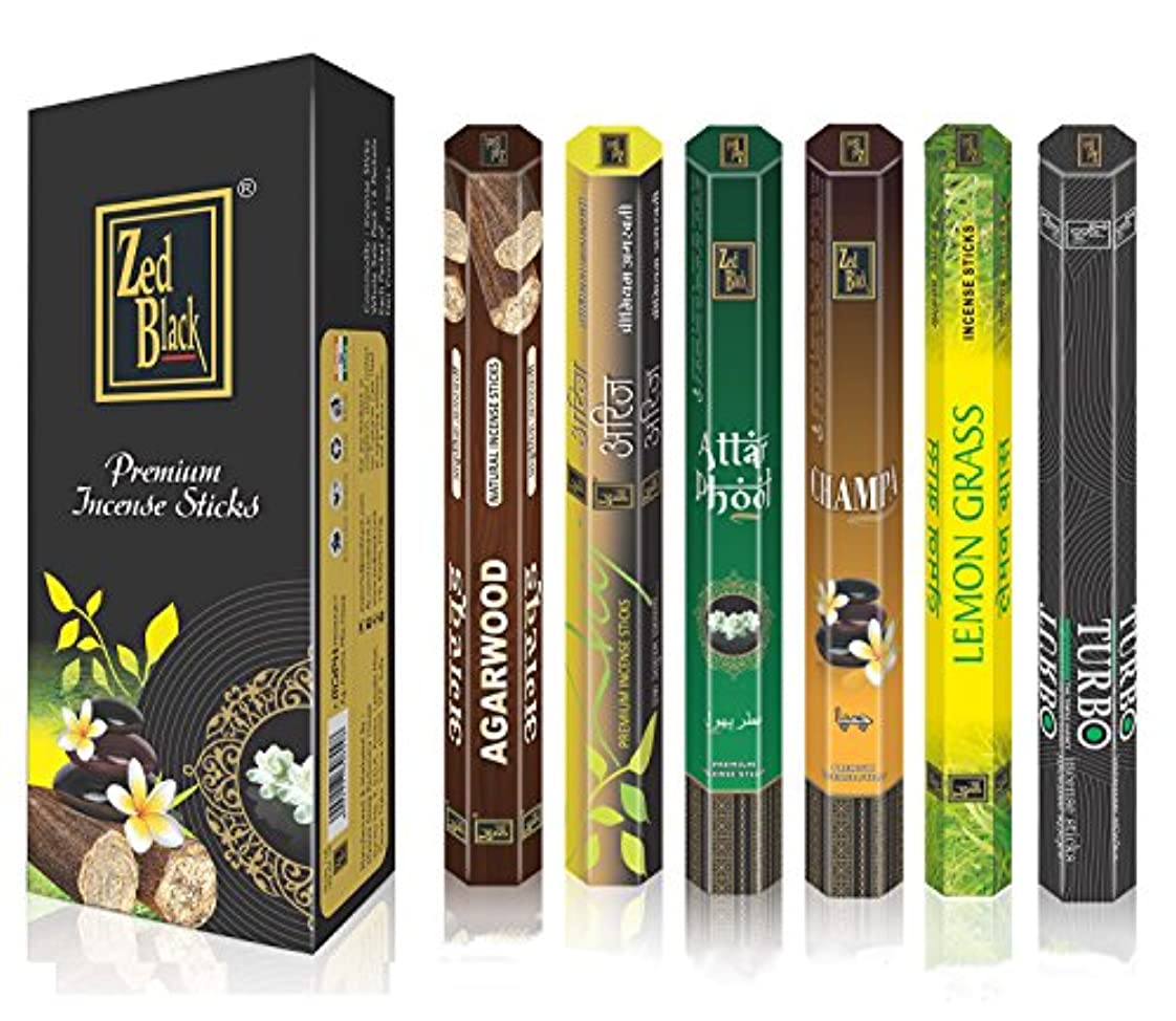 童謡規定上流のAromaプレミアムFragrance Sticks – パックof 6 – Serene and Enthralling 120 Incense Sticks – Feel The natural fragrances with Scented Oil Sticks