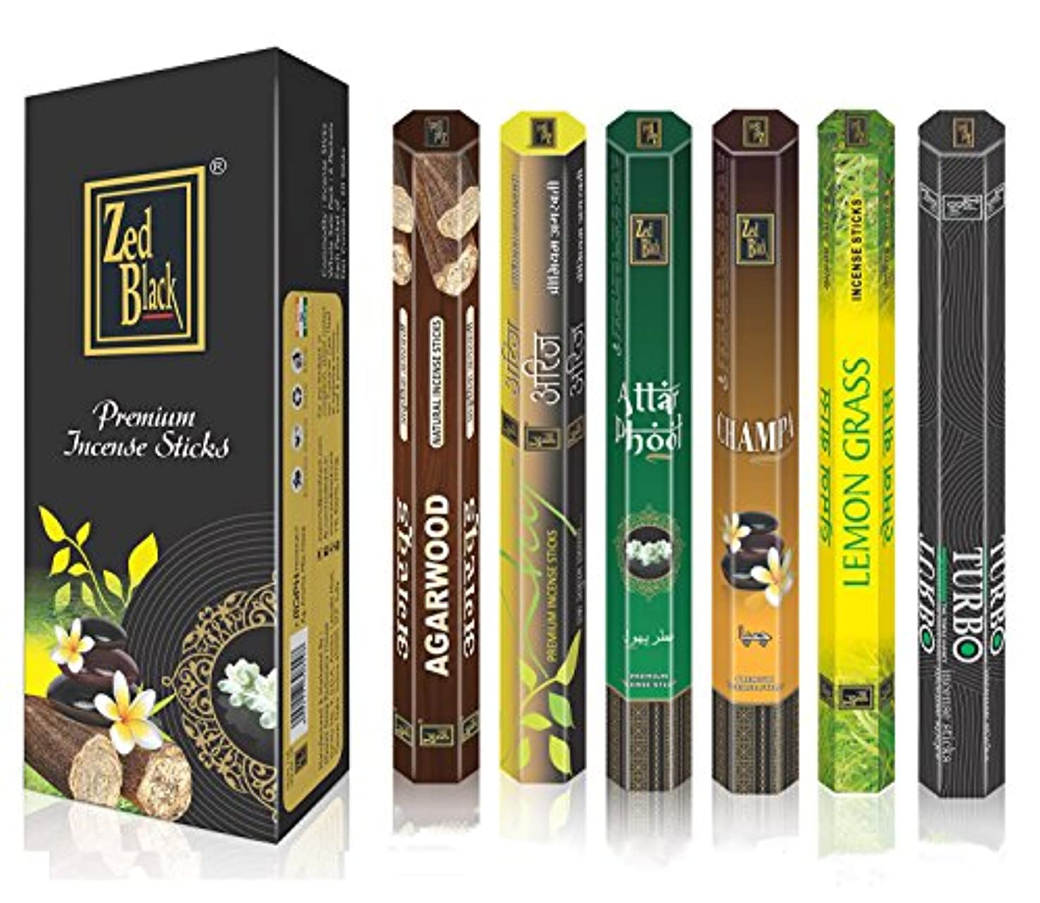 飼い慣らす持つ担保AromaプレミアムFragrance Sticks – パックof 6 – Serene and Enthralling 120 Incense Sticks – Feel The natural fragrances...