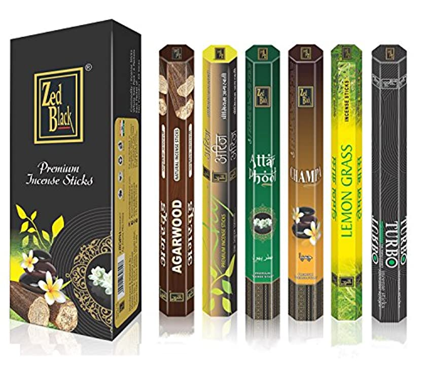 AromaプレミアムFragrance Sticks – パックof 6 – Serene and Enthralling 120 Incense Sticks – Feel The natural fragrances...