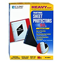 C-Line - Traditional Polypropylene Sheet Protector, Heavyweight, 11 x 8 1/2, 50/BX 00010 (DMi BX by C-Line
