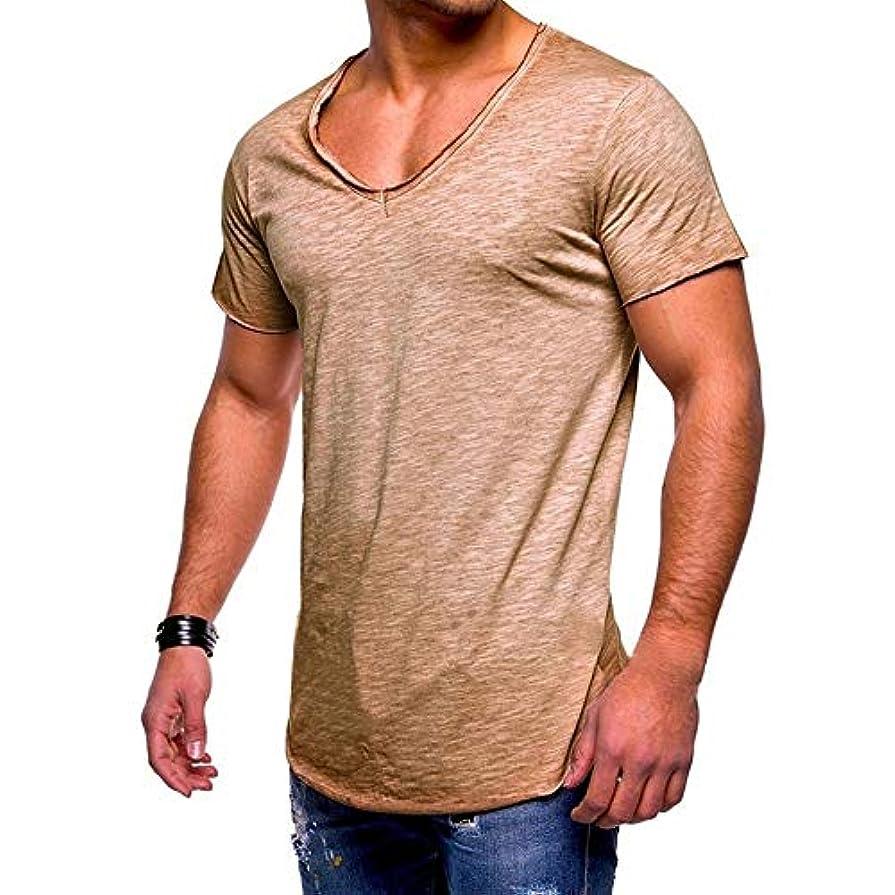歩き回る付与名門MIFAN メンズTシャツ、カジュアルシャツ、半袖、コットンTシャツ、Vネックシャツ、スリムTシャツ、トップス&Tシャツ、メンズトップス