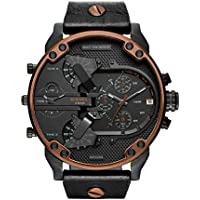 Diesel Men's Quartz Watch, Chronograph Display and Leather Strap DZ7400