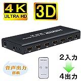 Best HDMIスプリッター - BLUPOW 4Kx2K HDMI切替器 HDMI分配器 2入力4出力+音声 分離(SPDIF 光デジタル・3.5mmステレオ音声出力) hdmi1.4 Review