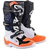 Alpinestars Youth Tech 7S Motocross Boot, Black/White/Orange, 2