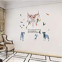 Onlymygodアート羊ヘッド装飾リビングルーム壁寝室ベッドサイドレストラン装飾画48×54センチ