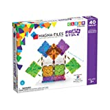 Magna-Tiles 18840 40 Piece Freestyle Set, The Original, Award-Winning Magnetic Building Tiles, Creativity and Educational, Stem Approved, Clear Colors and Translucent (Pack of 40)