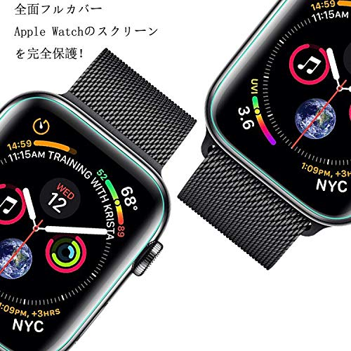 『Apple Watch 44mm フィルム COLIN【全面保護】Apple Watch Series 4 フィルム TPU素材 弧状のエッジ加工 Apple Watch Series 4 保護 フィルム 全面保護 アップルウォッチ フィルム 高透過率 HD画面 Apple Watch Series 4 44mm 対応【2枚入り】 (44MM)』の1枚目の画像