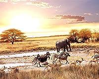 Ansyny 任意のサイズのリビングルームの壁の壁画の壁紙、壁のための現代アフリカ動物の象の写真の壁紙3 dをカスタマイズ-200X140CM