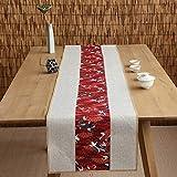 テーブルランナー ホームデコレーション 北欧 工芸品 刺繍 おしゃれ 結婚式 パーティー 芸術 民宿 民族スタイル (Color : White, Size : 30*220cm)