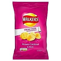 歩行者のエビカクテルポテトチップス25Gを1パック×6 (x 4) - Walkers Prawn Cocktail Crisps 25g x 6 per pack (Pack of 4) [並行輸入品]