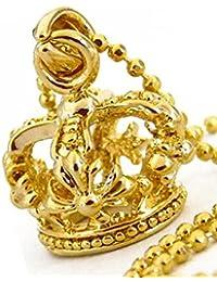 王冠 クラウン ゴールドカラー キラキラ輝く煌きカットGlass メンズ[n845]