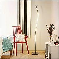 床は屋内照明を導きましたモダンな床ライトの照明レプリカの床は居間LEDのテーブルランプの寝室のベッドサイドのテーブルランプの台所設備を導きました(色:黒)