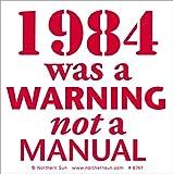 """1984?Was A警告Not A手動???Smallバンパーステッカー/デカール( 4?"""" x 4?"""" )"""