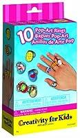 Creativity For Kids Pop Art Rings 10 Rings [並行輸入品]