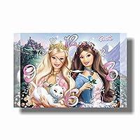 "Barbie as the Princess and the Pauper 17"" x 11"" 壁時計( プリンセスとパウパーとしてのバービー)あなたの友人のための最高の贈り物。あなたの家のためのオリジナルデザイン"