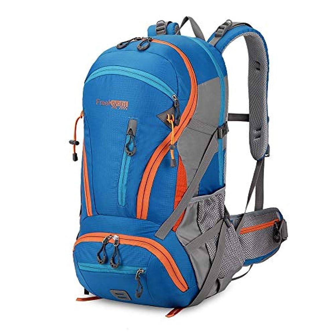 教育者骨の折れるありがたいアウトドアリュックサックキャンプハイキングバックパックトレッキング45リットルパープル防水スポーツバッグバックパックバッグ登山旅行リュックサック (Color : Blue)