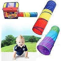 ABSTEPS おもちゃテント 3色 おもちゃのクローリングトンネル 子供用 屋外 屋内 おもちゃのチューブ 赤ちゃん遊び クラフトゲーム テントにアクセス可能 1個