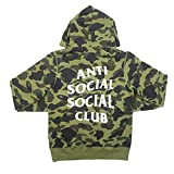A BATHING APE ア ベイシング エイプ ×Anti Social Social Club 17SS 1ST CAMO PULLOVER HOODIE 1stサル迷彩柄スウェットパーカー 緑 M
