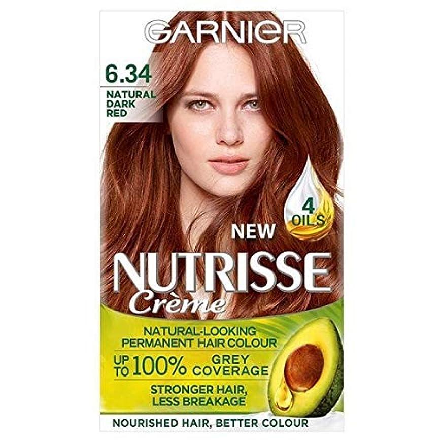 爵タイトル時制[Garnier ] 6.34濃い自然な赤ガルニエNutrisseパーマネントヘアダイ - Garnier Nutrisse Permanent Hair Dye Dark Natural Red 6.34 [並行輸入品]