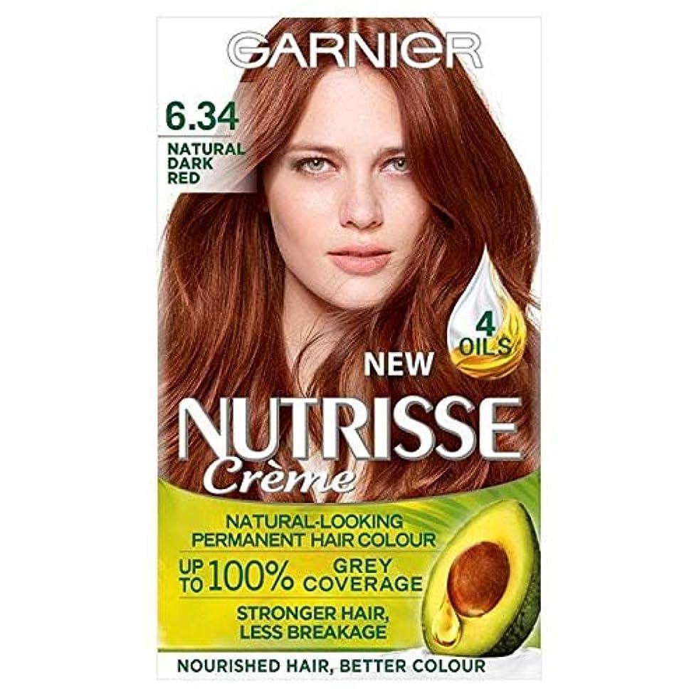 成熟低下欠員[Garnier ] 6.34濃い自然な赤ガルニエNutrisseパーマネントヘアダイ - Garnier Nutrisse Permanent Hair Dye Dark Natural Red 6.34 [並行輸入品]