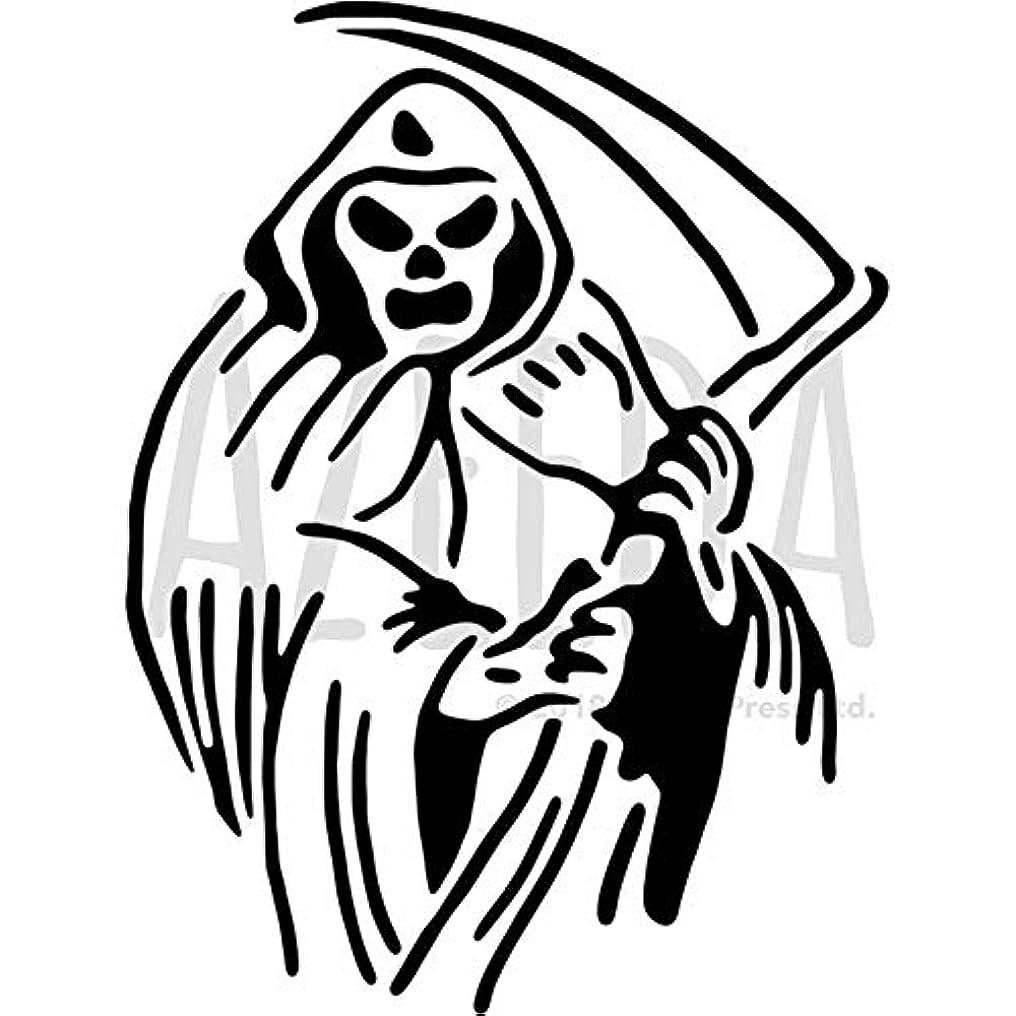 蒸気社会主義ナチュラルA4 'Grim Reaper' ウォールステンシル/テンプレート (WS00030179)