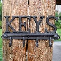 KTYX ヨーロッパとアメリカの工芸錬鉄製の文字装飾フック コートハンガー