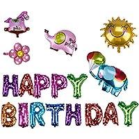 誕生日 飾り付けセット バルーン 風船 文字 豪華 ピース パーティーグッズ