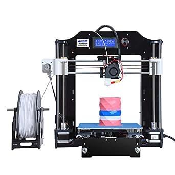 ALUNAR-M508 【工場直販】3Dプリンターキット 0.3mmノズル 高精度印刷 Reprap Prusa i3 DIY未組立 3D造形サイズ7200cm³  PLAフィラメント、組立ビデオSDカードが付属 (M508-黒)