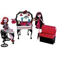 [モンスターハイダイニア]Monster High Die-Ner Playset With Draculaura and Operetta Dolls 3263184 [並行輸入品]
