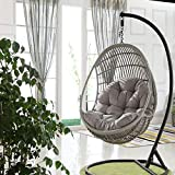 Awhao Swing Hanging Basket Seat Cushion Thicken Hanging Egg Hammock Chair Pad for Home(Only Cushion)