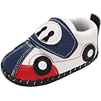 Weixinbuy Infant Baby Boy's Cartoon Car Pattern Soft Sole Anti-Slip Casual Sneaker Shoes