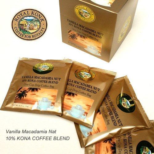 【ROYAL KONA COFFEE】ロイヤルコナコーヒー ワンドリップバッグ 10g ×10袋 (バニラマカダミアナッツ)