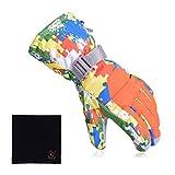 【Cat Hand(キャット ハンド)】スキー スノーボード 用 グローブ クリーニングクロスセット (グリーン/迷彩柄, XL)