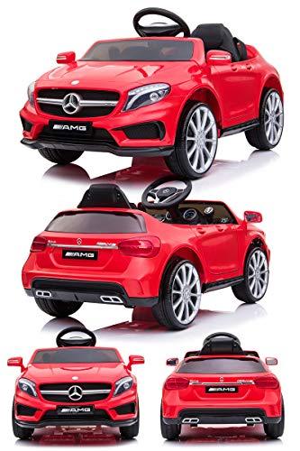 電動乗用カー 乗用ラジコン メルセデスベンツ GLA45 電動乗用ラジコンカー 乗用玩具 電動カー 車のおもちゃ 乗物玩具 (RED)