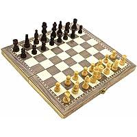 New Set Chess Checker 30*30cm Wooden Folding Chess Checker Backgammon Combination Game Checkerboard