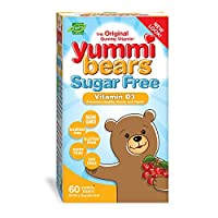 海外直送品Yummi Bears Sugar Free Vitamin D3, 60 gummies by Yummi Bears (Hero Nutritional Products)