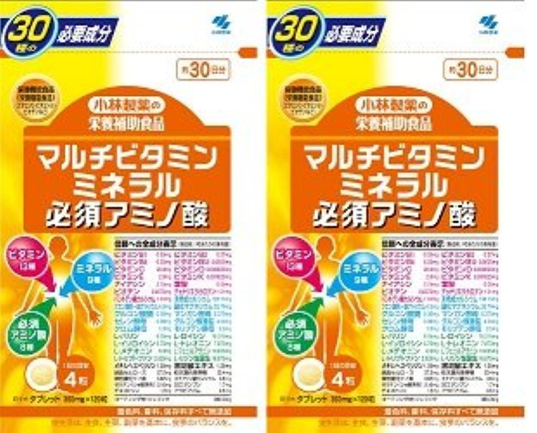 【???便】小林製薬 マルチビタミンミネラル必須アミノ酸 120粒×2個セット