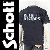 (ショット) Schott ヘビーデニム・半袖シャツ カウハイド×ヘビーデニム HEAVY DENIM S S SHIRT 3102012-88 M