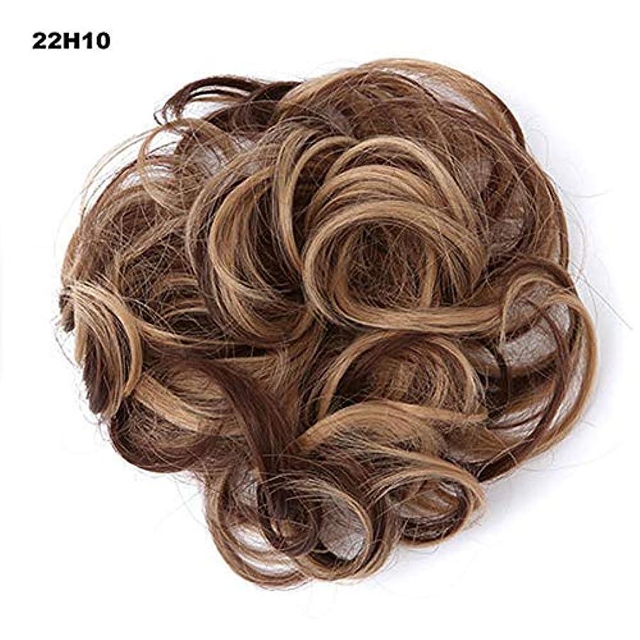 八百屋アラート暗くするポニーテールドーナツシニョン拡張機能、乱雑なシュシュ髪お団子リボンアクセサリー、女性のためのカーリー波状の作品