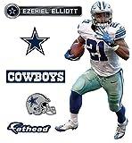 """Ezekiel Elliott Fatheadダラス・カウボーイズ公式NFLビニール壁グラフィック16"""" x9""""インチ"""