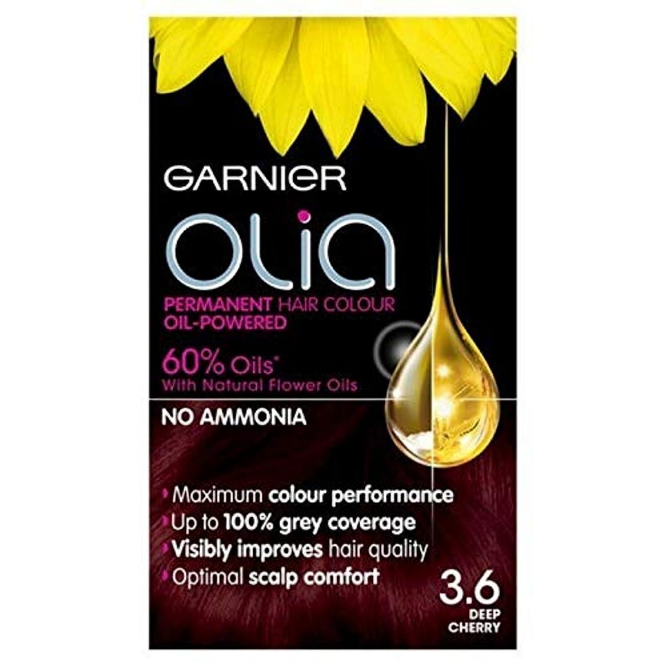 集中的な放置シニス[Garnier ] 3.6永久染毛剤深いチェリーレッドガルニエOlia - Garnier Olia Permanent Hair Dye Deep Cherry Red 3.6 [並行輸入品]