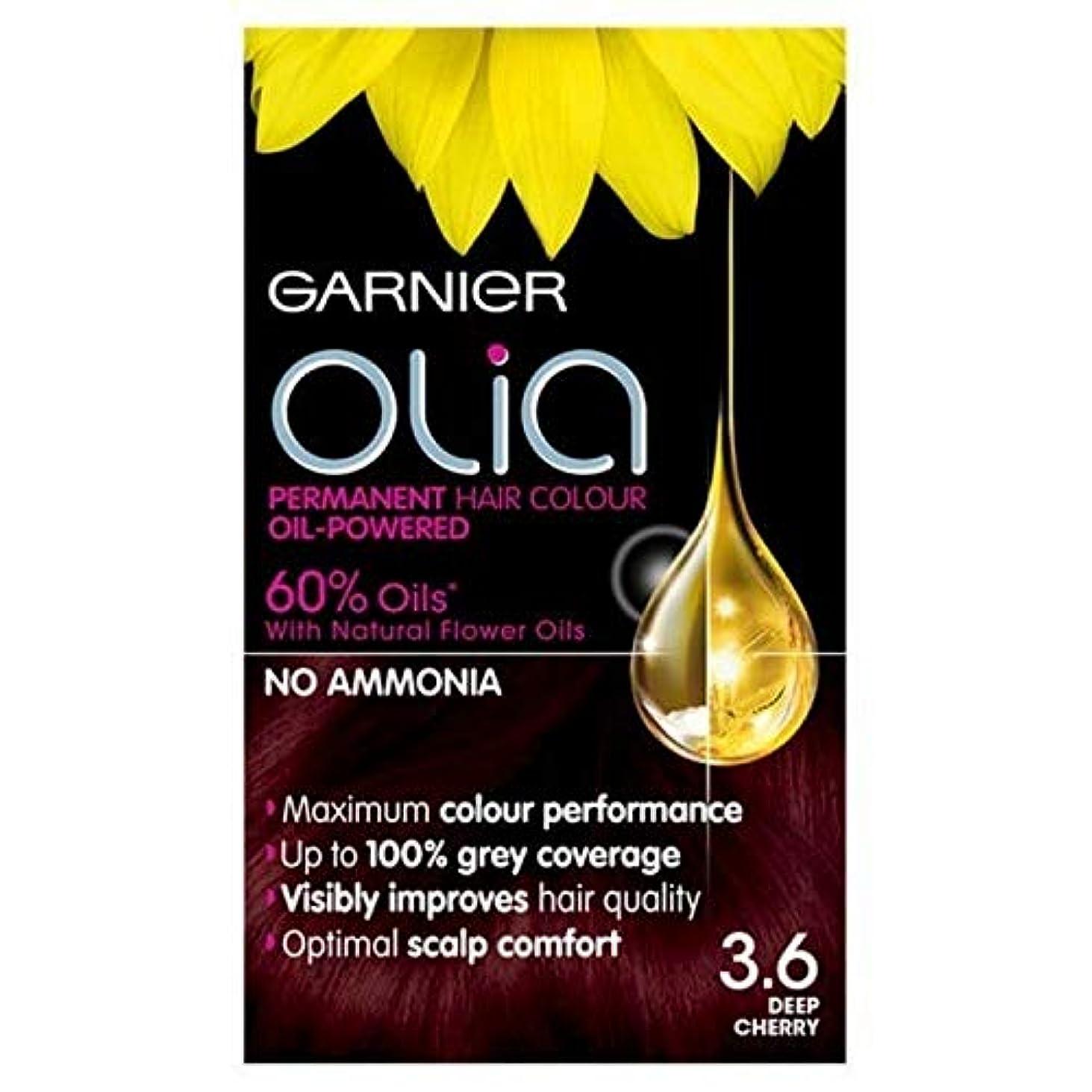 キャプテン数字球体[Garnier ] 3.6永久染毛剤深いチェリーレッドガルニエOlia - Garnier Olia Permanent Hair Dye Deep Cherry Red 3.6 [並行輸入品]
