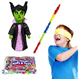 Evil witch halloween PinataキットIncluding Pinata , Busterスティック、バンダナ、2ポンドCandy Filler