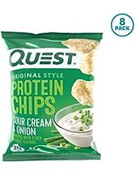 プロテイン チップス サワークリーム&オニオン フレイバー クエスト 8袋セット 並行輸入品 Quest Nutrition Protein Chips Sour Cream & Onion Pack of 8 海外直送品