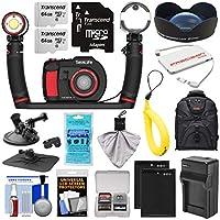 SeaLife DC2000 Pro Duo HD 水中デジタルカメラ Sea Dragon 3000ライト/フラッシュセット& 0.75x広角レンズ + (2) 64GBカード + バッテリー & 充電器 + マウント + バックパックキット
