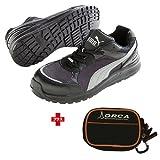 プーマ 通販 PUMA(プーマ) 安全靴 スプリント ブラック ロー 28.0cm(ジャパンモデル) ※ポーチ付セット 64.333.0